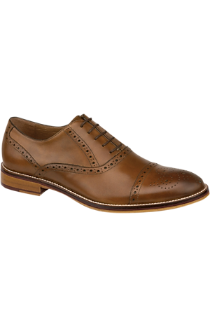 Men's Shoes, Johnston & Murphy Conard Cap Toe Oxford - Jos A Bank