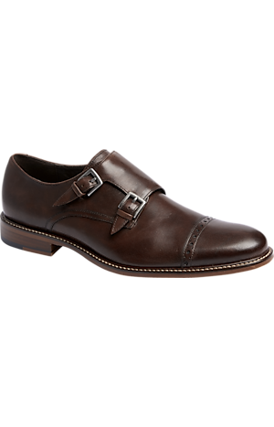 Men's Clearance, Joseph Abboud Glen Double Monk Strap Dress Shoes CLEARANCE - Jos A Bank