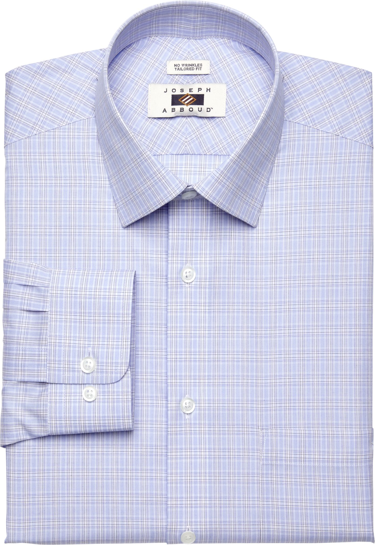 77cc35105 Joseph Abboud Traditional Fit Spread Collar Plaid Dress Shirt - Big   Tall  CLEARANCE  50C6