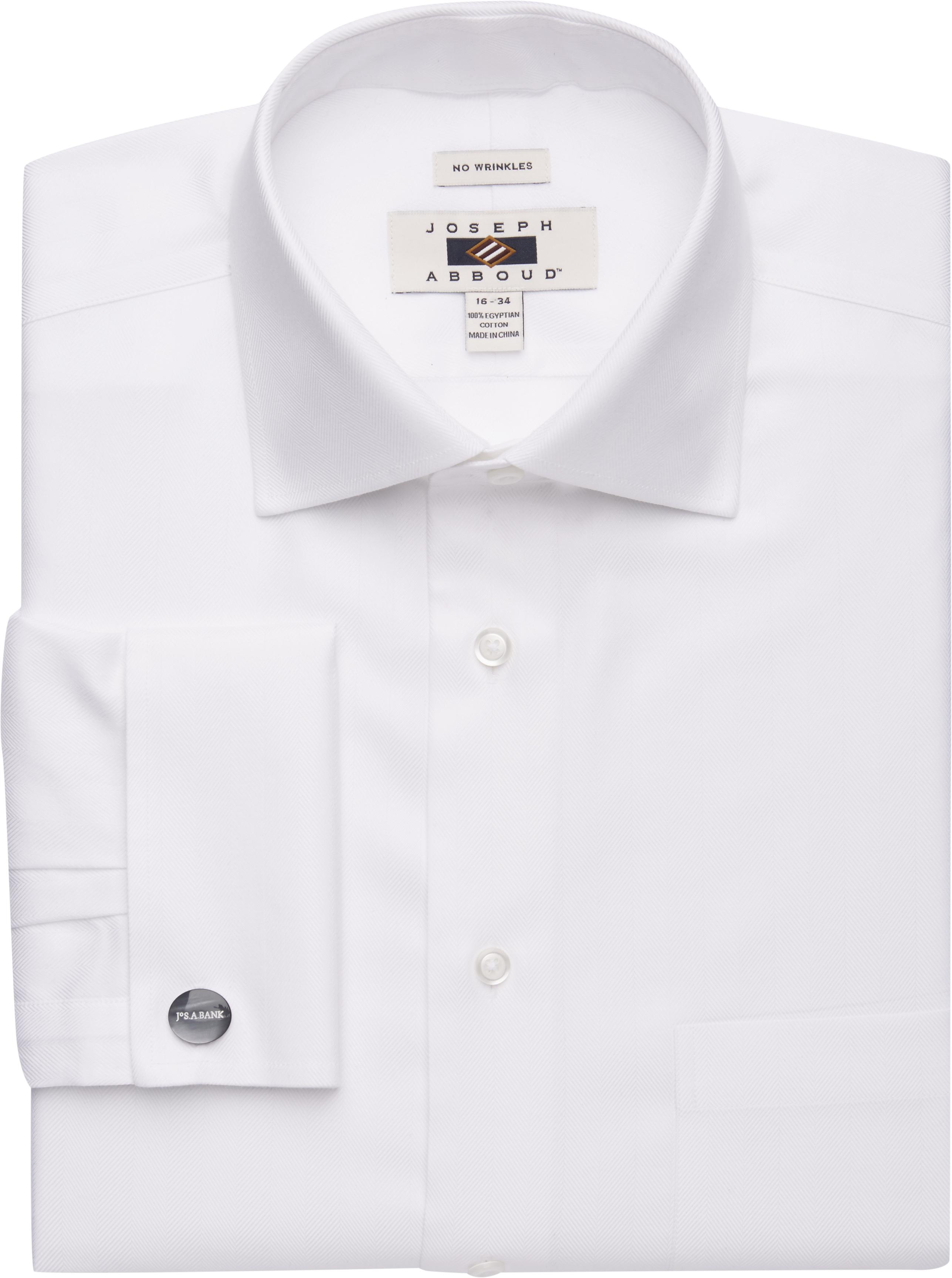 ad93a61e Joseph Abboud Traditional Fit Spread Collar Herringbone Dress Shirt  CLEARANCE #50X5
