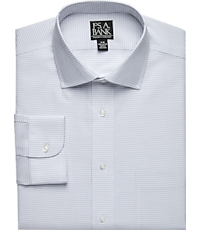 Traveler Collection Spread Collar Check Dress Shirt (Big & Tall)