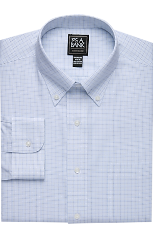 Men's Clearance, Traveler Collection Tailored Fit Button-Down Collar Check Dress Shirt - Big & Tall CLEARANCE - Jos A Bank
