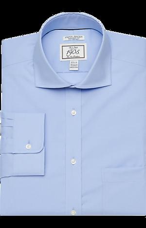 Men's Shirts, 1905 Collection Tailored Fit Cutaway Collar Dress Shirt - Jos A Bank