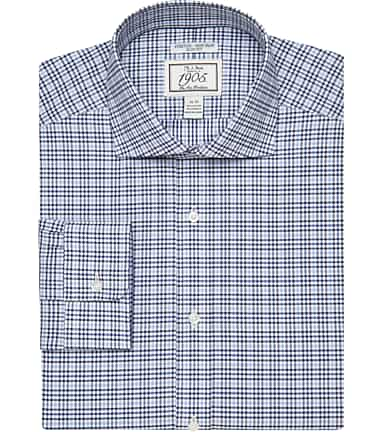 4993ff41305b 1905 Collection Slim Fit Cutaway Collar Comfort Stretch Check Dress Shirt  CLEARANCE #52U5