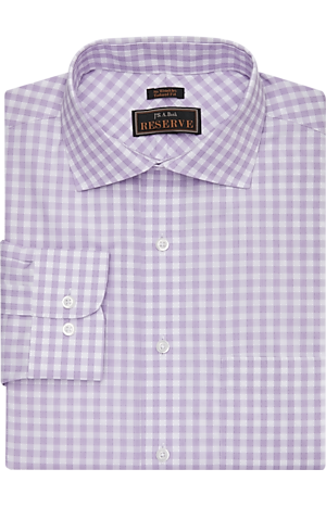 Men's Clearance, Reserve Collection Tailored Fit Spread Collar Gingham Check Dress Shirt - Big & Tall CLEARANCE - Jos A Bank