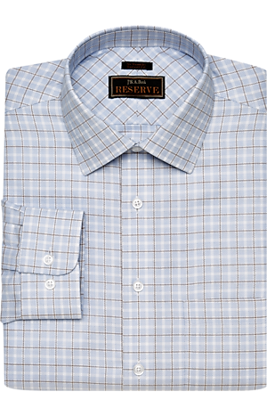 Men's Clearance, Reserve Collection Tailored Fit Spread Collar Plaid Dress Shirt CLEARANCE - Jos A Bank