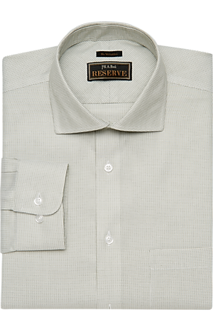 Men's Clearance, Reserve Collection Traditional Fit Spread Collar Micro Weave Dress Shirt CLEARANCE - Jos A Bank