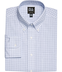 94019c451d1d Traveler Collection Tailored Fit Button-Down Collar Grid Pattern Dress Shirt  -