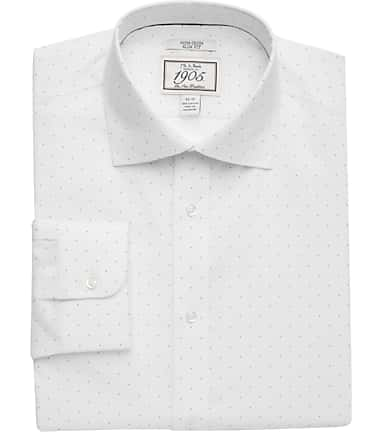 dff0043f848 1905 Collection Slim Fit Cutaway Collar Dot Dress Shirt - Big   Tall  530D