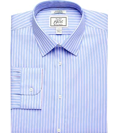 36244141 1905 Collection Tailored Fit Spread Collar Stripe Dress Shirt #530X