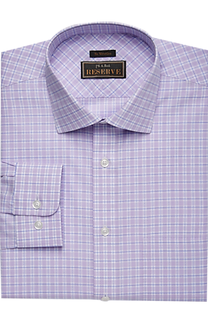 Men's Clearance, Reserve Collection Traditional Fit Spread Collar Grid Plaid Dress Shirt CLEARANCE - Jos A Bank