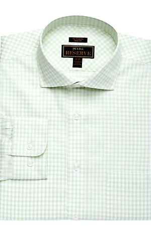 Reserve Collection Slim Fit Cutaway Collar Gingham Dress Shirt CLEARANCE