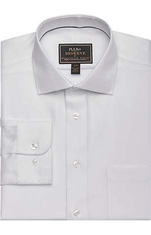 Men's Shirts, Reserve Collection Tailored Fit Spread Collar Twill Dress Shirt - Jos A Bank