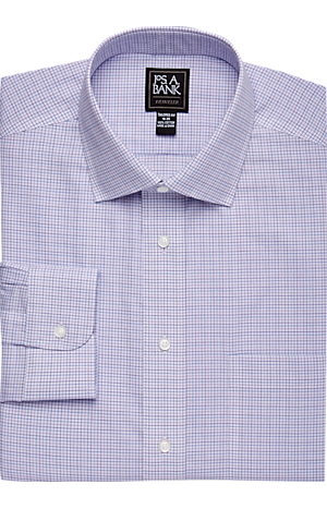 Men's Clearance, Traveler Collection Tailored Fit Spread Collar Tattersall Dress Shirt - Big & Tall CLEARANCE - Jos A Bank