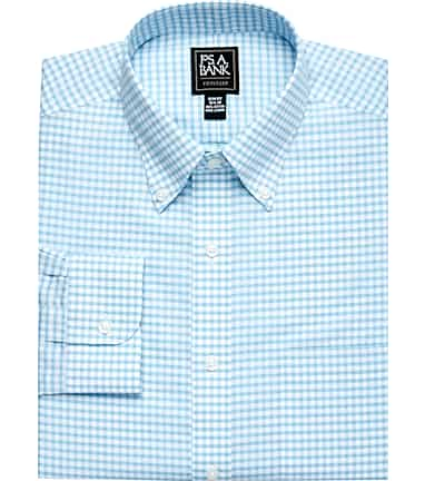 10abf3d61 Traveler Collection Slim Fit Button-Down Collar Gingham Check Dress Shirt  #537K