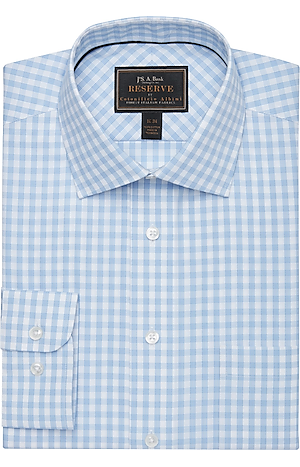 Men's Clearance, Reserve Collection Tailored Fit Spread Collar Check Dress Shirt - Big & Tall CLEARANCE - Jos A Bank