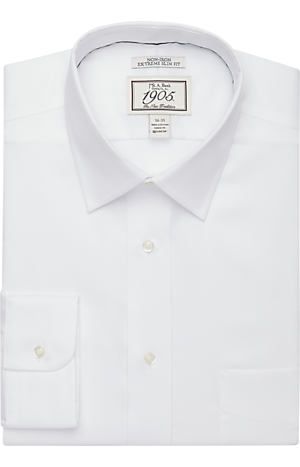 Men's FLYOUT_COLLECTION, 1905 Collection Extreme Slim Fit Spread Collar Dress Shirt - Big & Tall - Jos A Bank