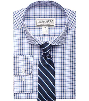 86d5ed54b 1905 Collection Boys Check & Stripe Dress Shirt & Tie Set - 1905 ...