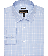 Reserve Collection Slim Fit Spread Collar Plaid Dress Shirt
