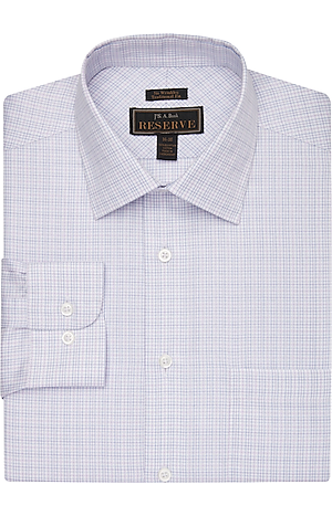Men's Clearance, Reserve Collection Traditional Fit Spread Collar Tattersall Dress Shirt CLEARANCE - Jos A Bank