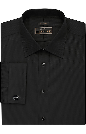 Men's Shirts, Reserve Collection Tailored Fit Spread Collar French Cuff Formal Dress Shirt - Jos A Bank