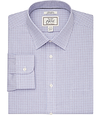 1905 Collection Tailored Fit Spread Collar Check Dress Shirt CLEARANCE