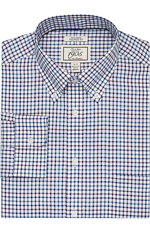 Men's Clearance, 1905 Collection Tailored Fit Button-Down Collar Check Dress Shirt CLEARANCE - Jos A Bank