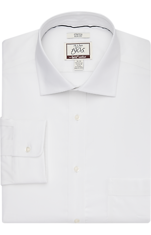 Men's Shirts, 1905 Collection Slim Fit Spread Collar Dress Shirt with brrr° comfort - Jos A Bank