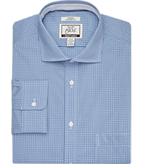 78c2abca8d 1905 Collection Tailored Fit Cutaway Collar Check Dress Shirt with brrr°  comfort