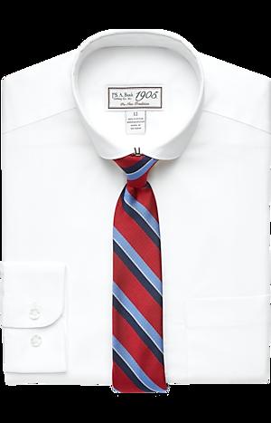 Men's Shirts, 1905 Collection Boys Classic Fit Dress Shirt & Tie Set - Jos A Bank