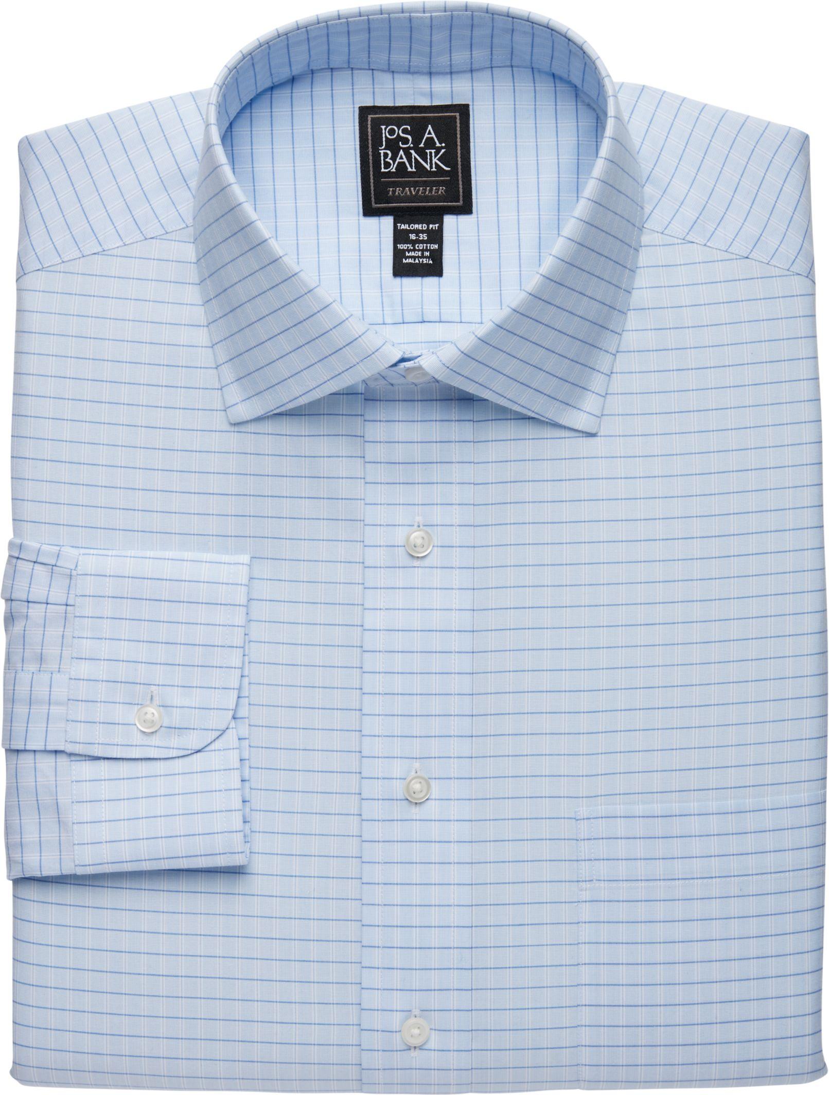 2eca281d13f7 Traveler Collection Tailored Fit Spread Collar Plaid Dress Shirt - Big &  Tall #57CK