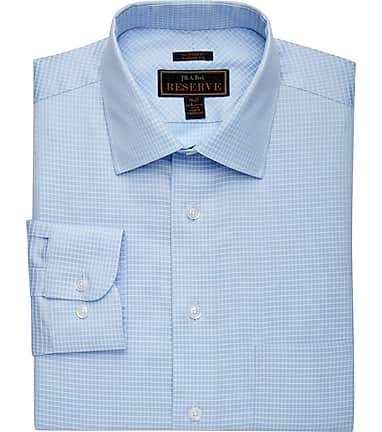 55d7adb5cf Reserve Collection Slim Fit Cutaway Collar Small Check Dress Shirt  57DD