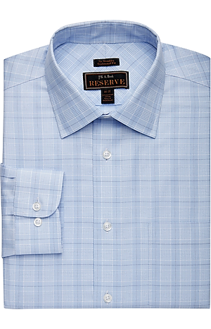 Men's Special Categories, Reserve Collection Traditional Fit Cutaway Collar Glen Plaid Dress Shirt - Jos A Bank