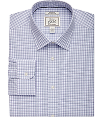 2f4c21c3cc 1905 Collection Tailored Fit Spread Collar Check Dress Shirt