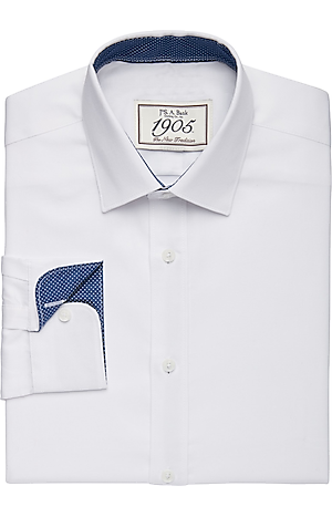 Men's FLYOUT_COLLECTION, 1905 Collection Tailored Fit Spread Collar Textured Dress Shirt - Big & Tall - Jos A Bank