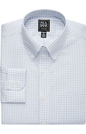 Traveler Collection Traditional Fit Button-Down Collar Plaid Dress Shirt - Big & Tall