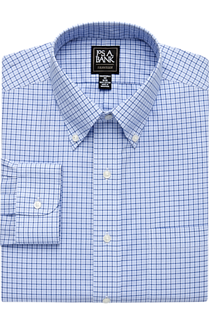 Men's Sale, Traveler Collection Traditional Fit Button-Down Collar Plaid Dress Shirt - Big & Tall - Jos A Bank