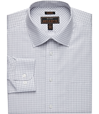 Men's Shirts, Reserve Collection Tailored Fit Spread Collar Gingham Check Dress Shirt - Jos A Bank