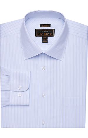 Men's Shirts, Reserve Collection Traditional Fit Spread Collar Fine Stripe Dress Shirt - Jos A Bank