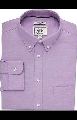 Men's Shirts, 1905 Collection Slim Fit Button-Down Collar Dress Shirt - Jos A Bank