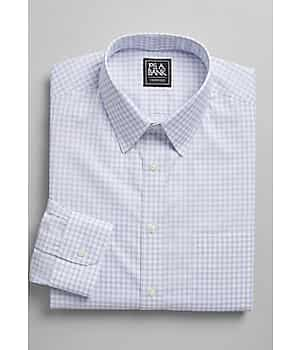 Traveler Collection Slim Fit Point Collar Check Dress Shirt