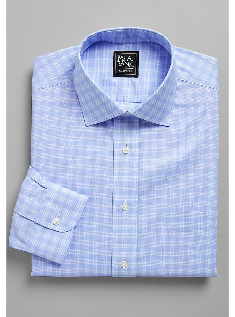 Traveler Collection Tailored Fit Spread Collar Charleston Check Dress Shirt