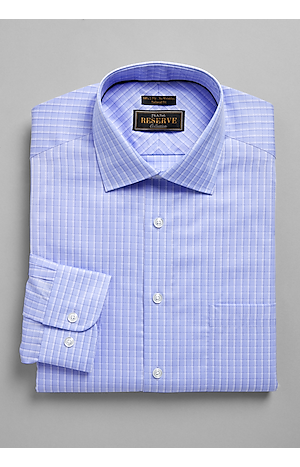 Men's Gifts for Dad, Reserve Collection Tailored Fit Spread Collar Check Dress Shirt - Jos A Bank