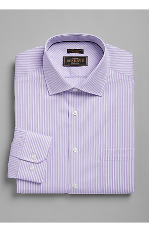 Men's Gifts for Dad, Reserve Collection Tailored Fit Spread Collar Stripe Dress Shirt - Jos A Bank