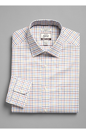 Men's Sale, 1905 Collection Slim Fit Point Collar Check Dress Shirt with brrr°? comfort - Big & Tall - Jos A Bank