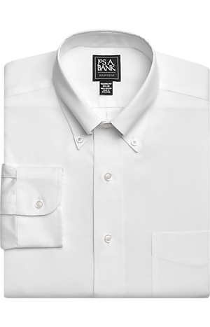 Men's FLYOUT_CATEGORY, Traveler Collection Tailored Fit Button-Down Collar Dress Shirt - Big & Tall - Jos A Bank