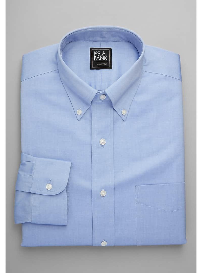 Traveler Collection Tailored Fit Button-Down Collar Dress Shirt