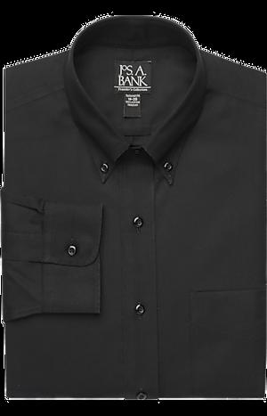 Men's Shirts, Traveler Collection Tailored Fit Button-Down Collar Dress Shirt - Jos A Bank