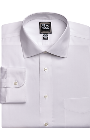 Men's Shirts, Traveler Collection Tailored Fit Spread Collar Dress Shirt - Jos A Bank