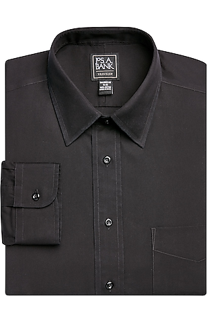 Men's FLYOUT_COLLECTION, Traveler Collection Tailored Fit Point Collar Dress Shirt - Big & Tall - Jos A Bank